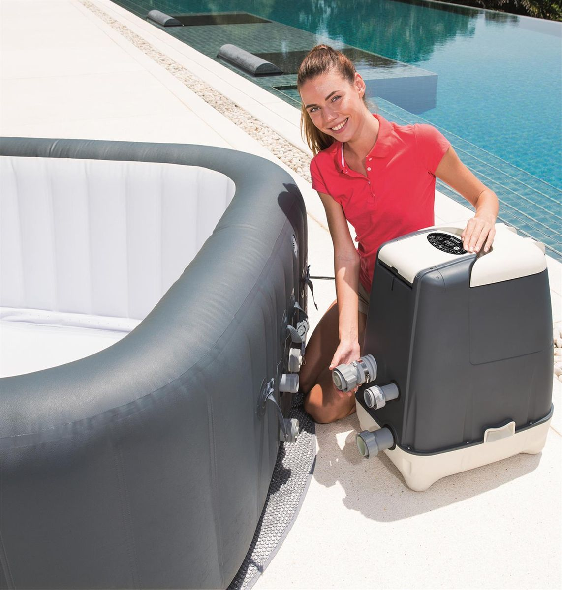 SPA GONFLABLE BESTWAY LAY-Z HAWAII HYDROJET PRO