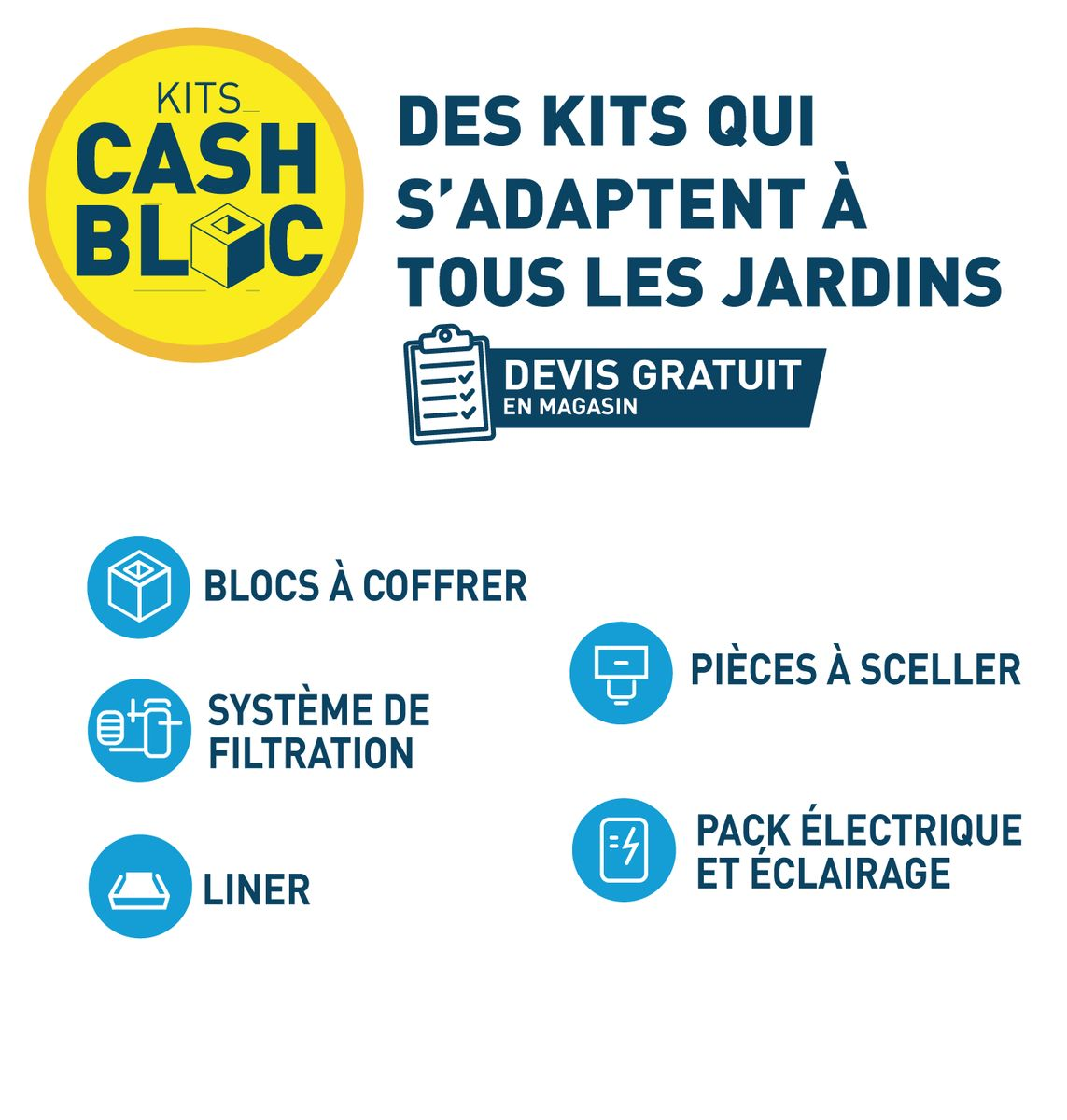 KIT PISCINE CASH BLOC