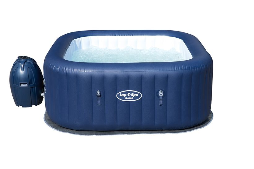 Spa gonflable bestway lay z carre hawai cash piscines for Spa cash piscine