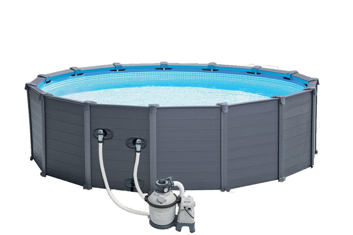 Piscine intex graphite 4 78x1 24 filtre a sable cash for Piscine graphite intex